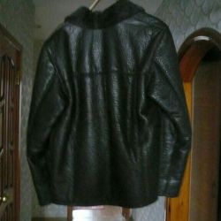 Sheepskin coat natural