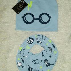 Комплект шапка+снуд Гарри Поттер на мальчика