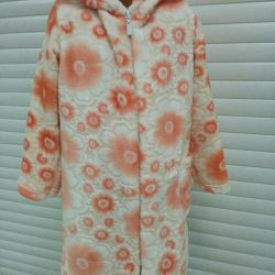 The dressing gown is children's, size 104-152