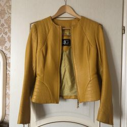 Jachetă din piele autentică de 4G din piele de giziu