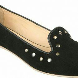 φυσικά παπούτσια μπαλέτου piranha από φυσικό σουέτ