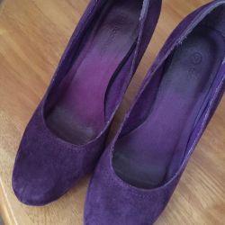 Παπούτσια γνήσιο δέρμα, φυσικό σουέτ