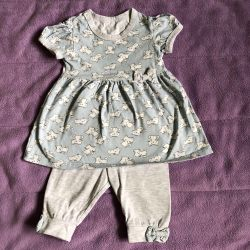 Dress with leggings 68 size