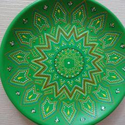 Πιάτο διακοσμητικό πράσινο chic