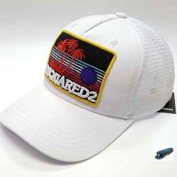 Dsquared Sanset Beach Baseball Cap (White) Mesh