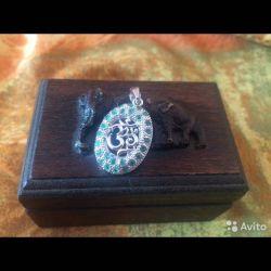 Ham zümrüt ile gümüş kolye