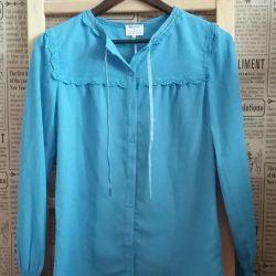 New cornflower blue blouse