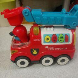 Παιδικό πυροσβεστικό όχημα παιχνιδιών