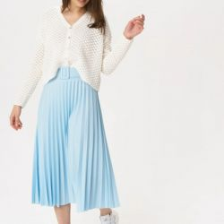 Luizacco  Pleated Skirt with Belt