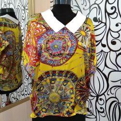 Блузка с ярким принтом