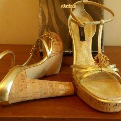 Sandals ROBERTO CAVALLI, Italy. Leather.