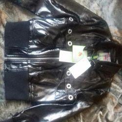 Черная лакированная куртка
