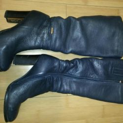 Winter boots 38r. Genuine leather, fur