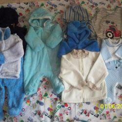 Σετ / κοστούμια, γάντια, μπλούζες 0-1 ετών