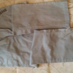 İnce pamuklu pantolon yeni