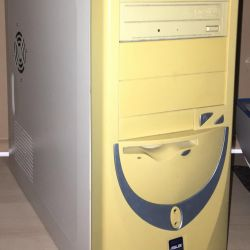 Bilgisayar Asus P5LD2 beyaz + tarayıcı, yazıcı.