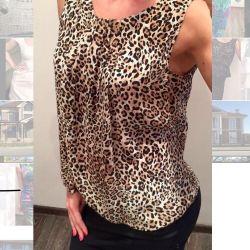 Zara Silk Leopard Top