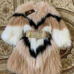 Пальто Fendi лисиця, ручна в'язка Нова