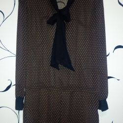 Прозрачная блуза длинная 48 размер