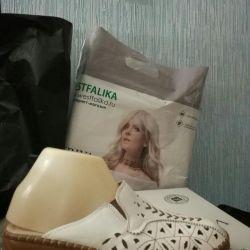 Шлепки новые женские в коробке на широкую ногу