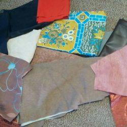 Лоскуты различной ткани