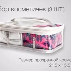 Set of cosmetic bags (3 pcs.)