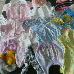 Ένα πακέτο πραγμάτων για τα κορίτσια μωρών 1-12 μήνες