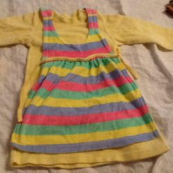 Velor dress with apron 2.5-3.5 years old