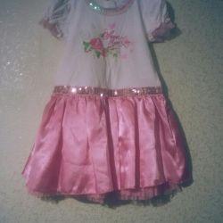 Zarif markalı elbise 4-6 yıl