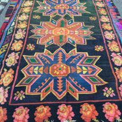 Vintage oriental carpet. Homespun Kelim