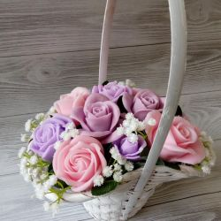 Bouquet of handmade festive soaps