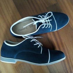 Suede shoes natural, 38r