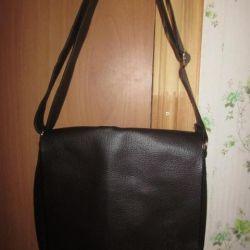Новая кожаная сумка обмен