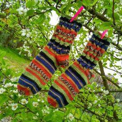 Socks multi-colored woolen