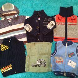 Sweatshirts and vests