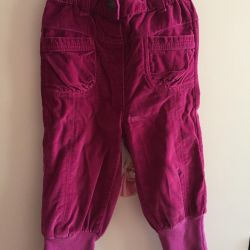 Trousers velor