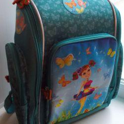 Turquoise school backpack