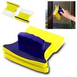 Magnetic brushes for washing windows