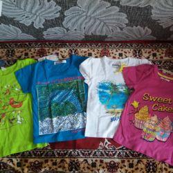 Kız için yeni tişörtler