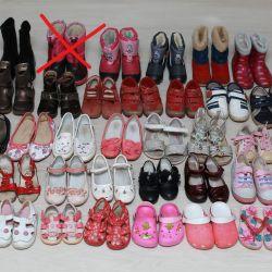 Winter footwear, demi-season and summer for girls
