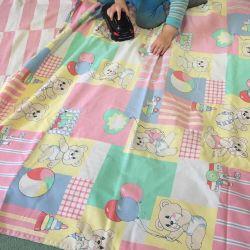 Κουβέρτα που χρησιμοποιήθηκε μωρό + κουβέρτα + 2 φύλλα