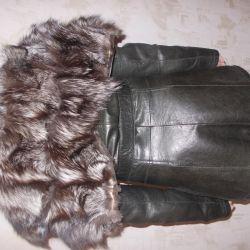 σακάκι με κολάρο γούνας