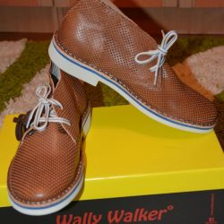 Новые туфли (полуботинки) Италия кожа