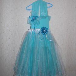 Kız turkuaz güzel elbise paketi
