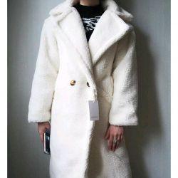 Αντίστροφα παλτό τρίχωμα αρκουδάκι παλτό