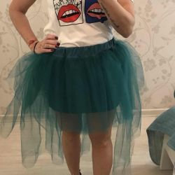 Tutu skirt with a train for a photo shoot and a holiday