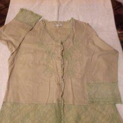Блузка мятного цвета размер 46