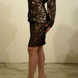 AREOLA Costum feminin de moda cu model rosu