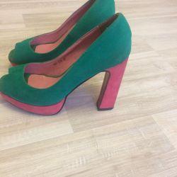 Suede Sandals 38