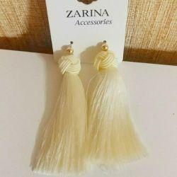 New ZARINA tassel earrings
